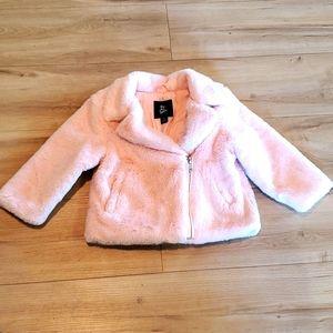 2/$12 Girls 18 month art class dress coat